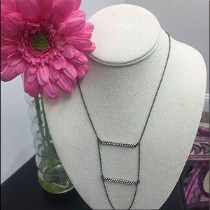 Crystal Bar Ladder Necklace,NWT